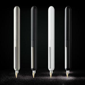 Red Dot Design Award LM Dialog Focus 3 Fountain Pen Black Titanium 14K Gold Tip Nib Ink Retractable Pens