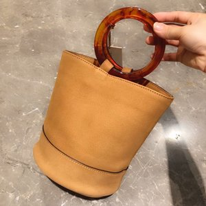 Minimalist Si mi bucket bag handbag commute to fashion trend Genuine Leather handbag luxurys designers bags