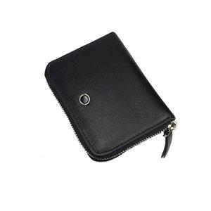 Design regalo Borsa di lusso Black ID Bag Slot Coin Slot con portafoglio multi-card New Card Supporto True Business Leather Uomo Zipper Cercing Box HiqxD
