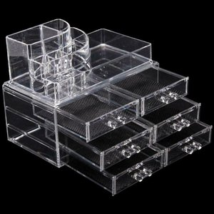 6 Drawers Beauty Clear Acrylic Cosmetic Organizer Makeup Case Storage Holder Box