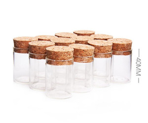500pcs 10ml size 24*40mm Small Test Tube with Cork Stopper Spice Bottles Container Jars Vials DIY Craft SN2164