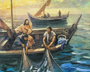 Catching Fish Home Decor Handcrafts / HD Imprimir Pintura A óleo sobre Canvas Wall Art Canvas Imagens 201126