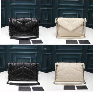 Bolsas de desenhista de luxo Loulou Bager Bager Saco De Ombro Quilted Lambskin Bolsa de Alta Qualidade Sacos Médio Grande Tamanho Grande