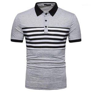 Designer Polos a righe Stand Stand Collar Collar Manica corta Top Mens 2020 Designer di lusso Vestiti Summer Mens