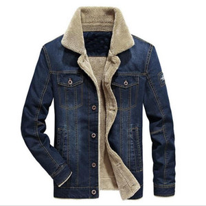 VXO Mens Denim Jacket Thicken Warm Winter Outwear Fleece Denim Coat Men Jacket Mens Rodeo Lined Jackets Fashion Coats