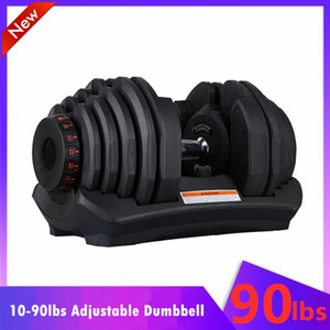 Free Shipping 40kg Weight Adjustable Dumbbells 10-90lbs Fitness Workouts Dumbbells Tone Your Strength Muscles 24Kg Fitness Gym Home