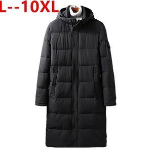 Men's Down & Parkas 5X 8XL 6XL Plus 10XL Long Winter Jacket Warm Windproof Casual Outerwear Padded Cotton Coat Big Pockets Men