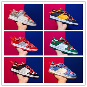 2021 Debut Futura X Dunk SB Low Off Skateboard Designer Shoes University Red Wolf Green Green Blanco Des Chaussures Taquets Mans Sneakers