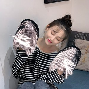 New Winter Glowing Home Slippers Unisex House Slippers Indoor Warm Reflective Shoes Woman Flash Sneakers 201124