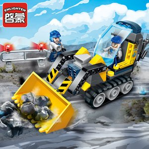 Enlighten Construction Engineering Building Block Technic Kyanite Squad Rock Bulldozer 2 Figure 114pcs Educational Bricks-No Box