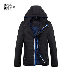 BlackleopardWolf 2019 nova chegada de algodão fino com um capô estilo de moda para baixo jaqueta homens para primavera zc-c562