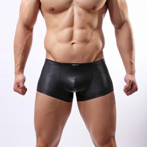 Wowhomme Faux Japanged кожаные трусики моды мужское сексуальное белье C33