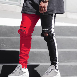 2021 Stretch Denim Pants Solid Slim Fit Jeans Men Casual Biker Denim Jeans Male Street Hip Hop Vintage Trouser Skinny Pant