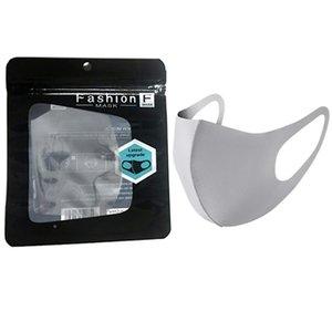 Fast Bocca Ghiaccio Lavabile Maschera viso I singoli filtri regalo nero Pacchetto anti polvere PM2.5 Respiratore antipolvere anti-batterico sacchetti di seta riutilizzabili riutilizzabili