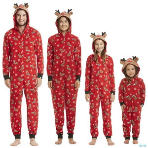 Christmas Pyjamas Sets For Family Set Clothes Xmas Sleepwear Nightwear Tops And Pants Parent Child Outfit Parent-Child Xmas Party 01-33