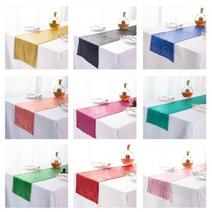 Solid Color Tables Flag Sequins Ornaments Table Runner Fashion Babysbreath Full Version Tablecloth Wedding Supplies 10 5xn K2