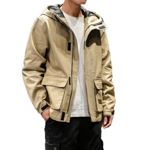 FAVOCENT 2020 New Autumn Mens Jackets Fashion Cotton Windbreaker High Street Men Khaki Jacket Male Streetwear Coats Over Size