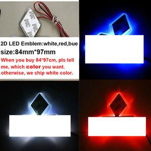 Авто светодиодная наклейка логотип значок эмблема 2D светодиодный свет лампы 12 В белый красный синий цвет