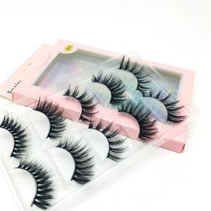 5Pairs 3D Mink Natural False Eyelashes Handmade Black Thick Long Lashes Makeup