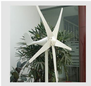 500W 12V 24V 48V Horizontal wind turbine generator windmill with 5 blades and charge controller for marine ship or home use