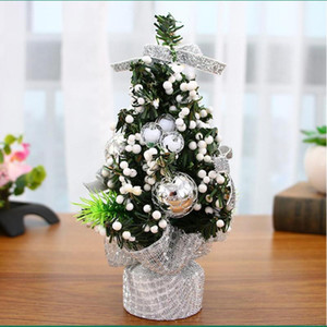 Mini Christmas Tree Artificial Tabletop Christmas Decorations Cute Ornaments Solid Base for Home Office Happy New Year 2021