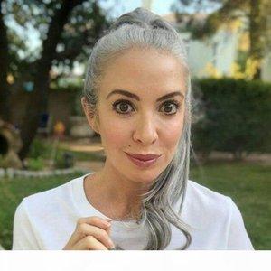 100% реальные волосы Gergeous Grey Ponytail волос наращивание волос клип в серый волнистые вьющиеся вьющиеся обертывание Drawstring хвостики седых волос 120г