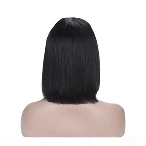 150% Density Short Bob Wigs Malaysia Hair Remy Hair Short Human Hair Wigs For Women Natural Color Full Machine Wigs With Bang