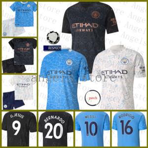 New Manchester Soccer Jersey 10 Kun Aguero Chemise de football 17 de Bruyne Maillot de Foot 9 g.jesus 7 Kits d'enfants Sterling 26 mahrez