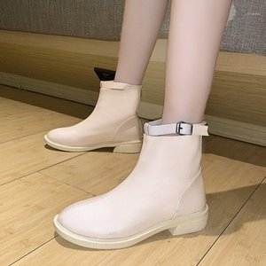 2020 autunno inverno stivaletti casual casual stivali da donna nuove stivali di colore solido peluche caldo comodo dimensione delle donne 34-401