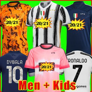 Juventus Fans versione giocatore maglia da calcio 2020 2021 RONALDO McKENNIE MORATA DE LIGT 20 21 uniformi RAMSEY DYBALA JUVE uomini + bambini kit razza umana quarto