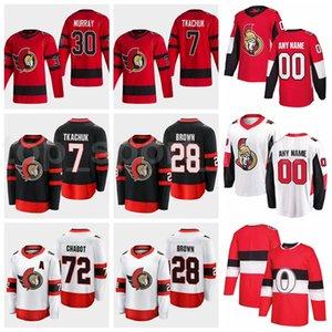 Retro Retro Hockey Ottawa Senadores 18 Tim Stutzle Jersey Stuetzle 30 Matt Murray 72 Thomas Chabot Connor Brown 7 Brady Tkachuk rojo blanco