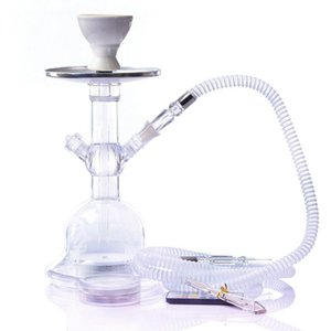 Hot selling manufacturer supply water pipe set acrylic water pipe bottle finished product shisha hookah