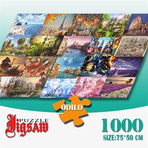 3D Jigsaw Puzzle 1000 pezzi Giocattoli di carta Giocattoli educativi per i puzzle di Chilren per adulti Decorazioni Sublimation Blanks 20121818