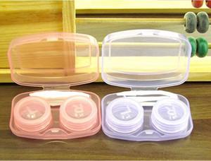 Portable Plastic Contact Lens Case Compact Multicolor Duplex Scatole Duplex Colore puro Bella scatola di pupilla Scatola calda 0 8HQ J2