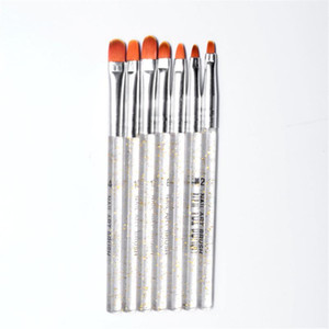 7pcs Acrylic Nail Art Pen Tips Uv Builder Nails Gel Painting Brush Manicure Set