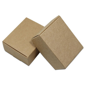 30pcs Lot Brown Variety Sizes Square Kraft Paper Package Box Paperboard Festival Gifts Crafts Packing Box Carton Board Pack Box H bbycug