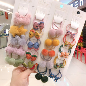 Flowers Hairball Cartoon Headrope Cute Elastic Baby Hair Accessories Headwear Girl Children Kids Ring Fashion 11 5jj F2