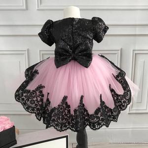 Новый формальный ребенок цветок девушка кружевная Voile Patchwork TUTU платье Princess BrideMaid вечеринка свадьба конкурс одежда одежда