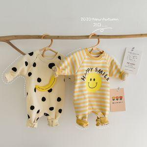 Milancel 2020 invierno bebé mamelucos espesando forro bebé niñas ropa 3d plátano bebé mono mono sonrisa infantil niña ropa C0126