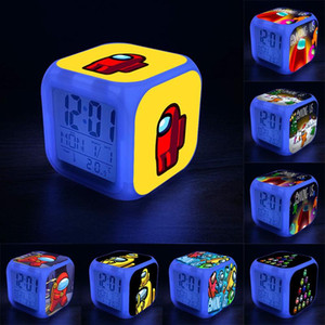 بين الولايات المتحدة لعب الاطفال أدى المنبه الرقمي مع 7 ألوان تغيير ضوء الليل مع عرض درجة الحرارة للأطفال طالب الإبداعية هدية