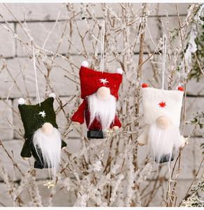 Sin rostro Santa Claus Angel Muñeca Colgante Árbol de Navidad Decoración Forestal Anciano Hombre con tapa de doble bola Home Peluche Adornos Niño Regalo