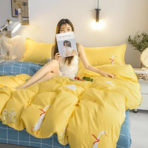 SB Printed Solid bedding sets Home Bedding Set 3-4 pcs High Quality Lovely Pattern with Star tree flower Cartoon Drop Shipping