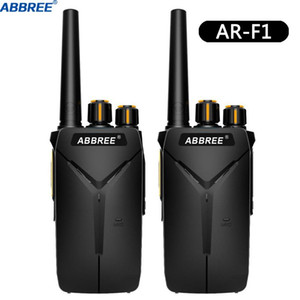 Walkie Talkie 2PCS ABBREE AR-F1 UHF 400-470MHz 16CH VOX 5W Ham Amateur CB Radio 10km Long Range Portable Two Way