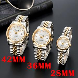 OROLOGIO DI LUSSO MENS MENS AUTOMÁTICO Relojes mecánicos de oro Vestido de mujeres de acero inoxidable completo zafiro impermeable parejas luminosas luminosas