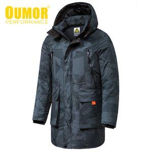 Oumor 8xl homens inverno novo longo casual camuflagem jaqueta jaqueta parkas casaco homens ao ar livre moda quente bolsos grossos parkas trincheiras homens 20115
