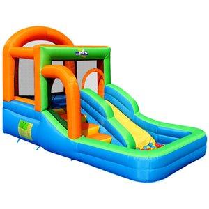 Jardim suplemo alvo inflável jumper salto casa de salto em slide com ventilador Bouncy castelo indoor jardim festa divertimento para crianças bola de backyard
