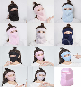 Ice Silk Sunscreen Mask Neck Mask Female Summer Hanging Ear Scarf Cool Absorb Sweat Riding Face Mask DB370