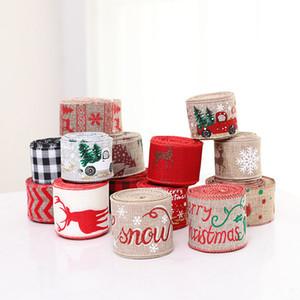 200 cm Keten Noel Hediye Kutusu Süslemeleri Kurdela Parti Kaynağı Noel Yay Şerit Yüksek dereceli Noel Ağacı Süslemeleri Ev için
