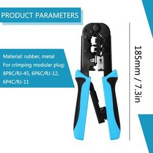 Network Matériel de sertissage Pince à sertir Outils Réseau multifonctionnel Réparation de la pince Connecteur de câbles de câblage de sertissage Câble de sertissage Y200321