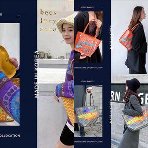 rHn Ko Graffitirea EMQ dog tooth o graffiti luxury Goya 2020 Korean new fashion Handbag handbagHandbag small designer CK net red vegetable